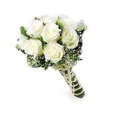 White Rose Hand Bouquet Upper Dublin High School, Wissahickon High School, Prom Flowers, Corsage, rose