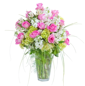 Pink and White  Elegance Vase - As Shown (Deluxe)