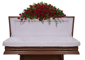 Royal Rose Full Casket Spray - As Shown (Deluxe)