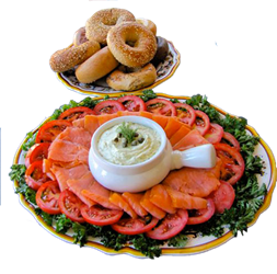 Lox and Bagel Tray 10 Person Tray